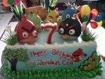 tokokuebangka-kue ulang tahun-angry birds cake's